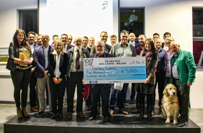 100 Men Who Give A Damn Cheque Presentation