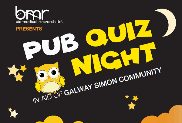 d4f22a60adbd BMR Table Quiz in aid of Galway Simon Community
