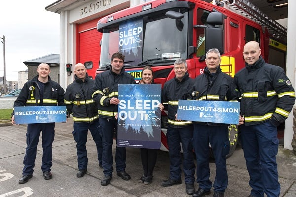galway fire and rescue sleep out
