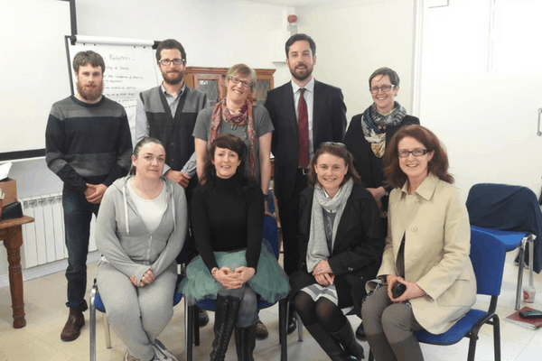 Minister Eoghan Murphy visits Galway Simon Service