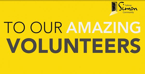 Galway Simon Community Volunteer thank you