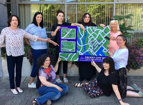 Galway City charity's get together and launch map of their stores