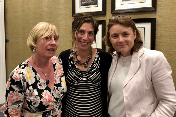 Senator Coletter Kelleher, Leilani Farha, UN Special Rapporteur for Adequate Housing and Karen Golden, CEO of Galway Simon Community at the Simon Communities in Irelands right to housing conference