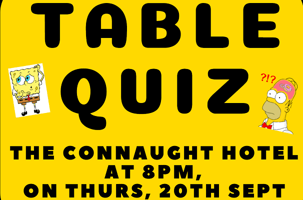 Galway Simon Youth Service Table Quiz